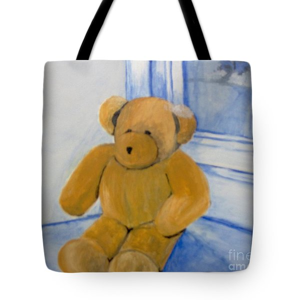 Tote Bag featuring the painting Warm Friend On A Cold Day by Saundra Johnson