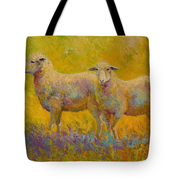 Warm Glow - Sheep Pair Tote Bag