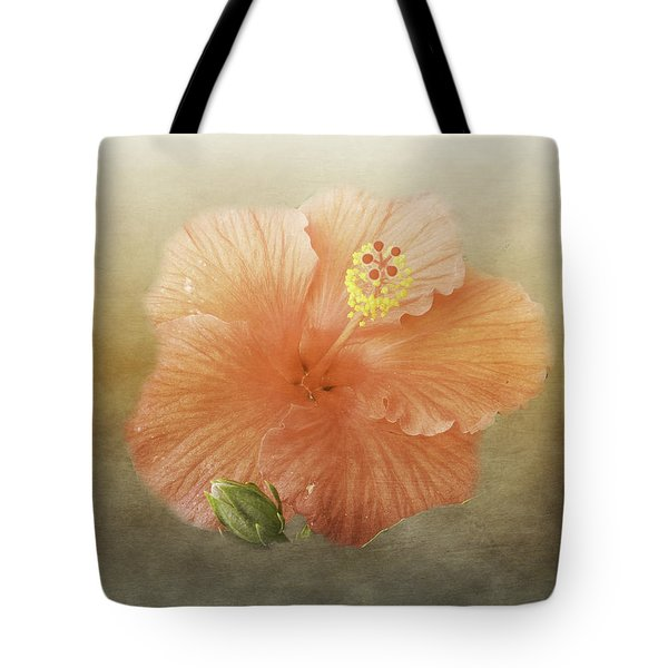 Tote Bag featuring the photograph Warm Hibiscus by Judy Hall-Folde