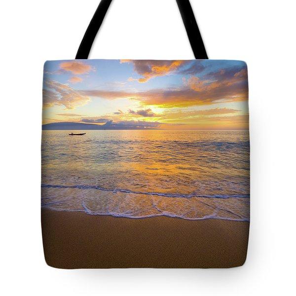 Warm Ka'anapali Sunset Tote Bag