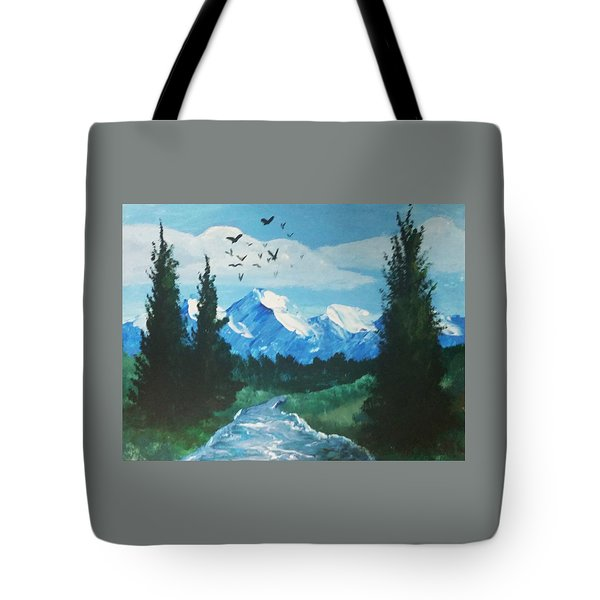 Warm Lake Tote Bag