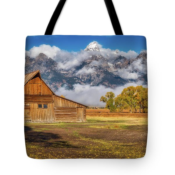 Warm Morning Light In The Tetons Tote Bag