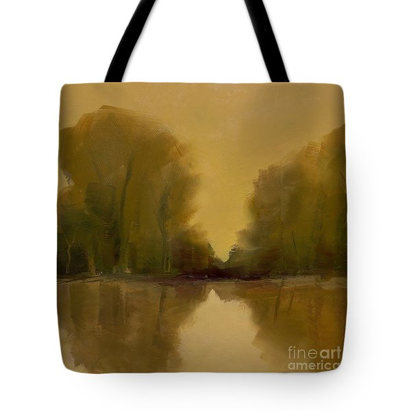 Tote Bag featuring the painting Warm Morning by Michelle Abrams