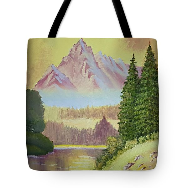 Warm Mountain Tote Bag