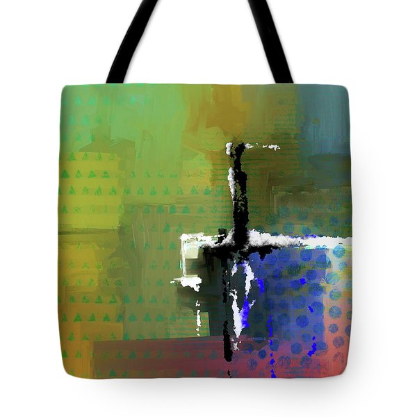 Tote Bag featuring the mixed media Warm Spring Night by Eduardo Tavares