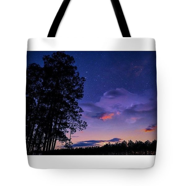 Warm Starry Nights Tote Bag