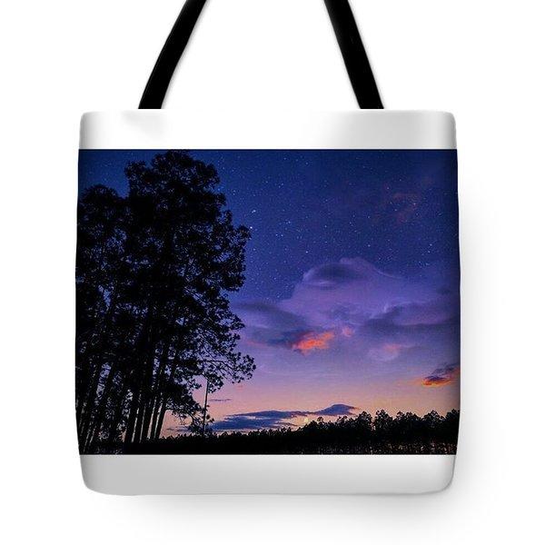 Warm Starry Nights Tote Bag