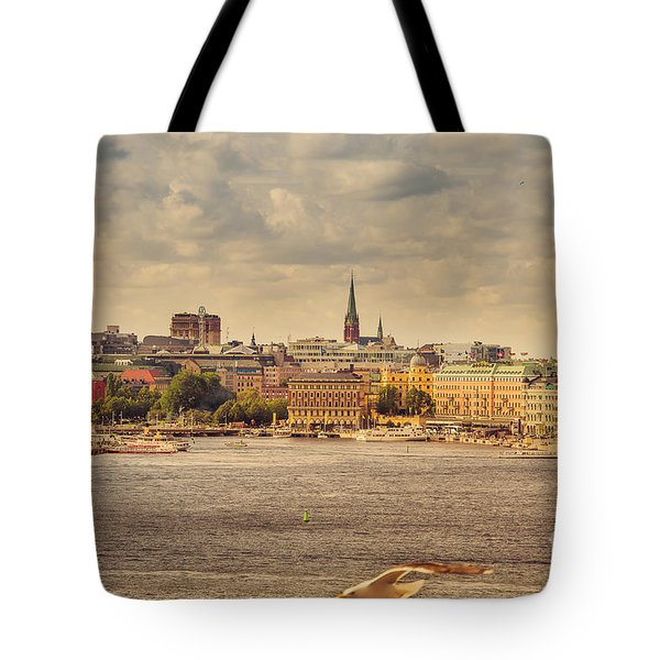 Warm Stockholm View Tote Bag