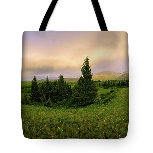 Tote Bag featuring the photograph Warm The Soul Panorama by Chad Dutson