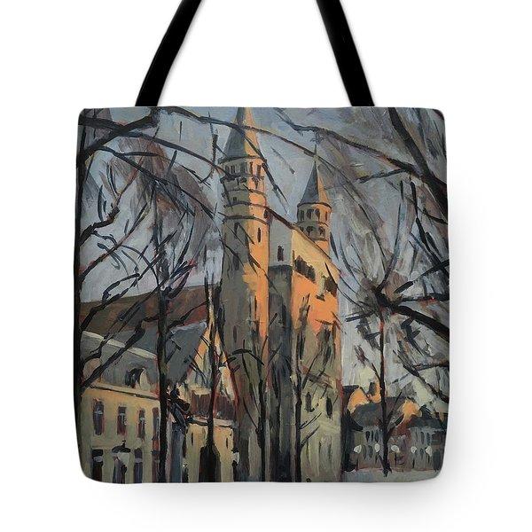 Warm Winterlight Olv Plein Tote Bag
