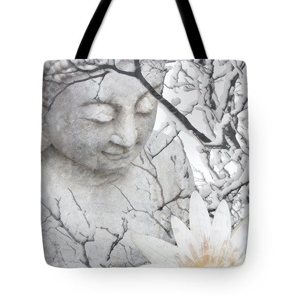 Tote Bag featuring the mixed media Warm Winter's Moment by Christopher Beikmann