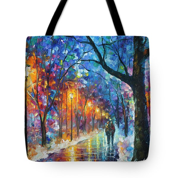 Warmed By Love Tote Bag by Leonid Afremov