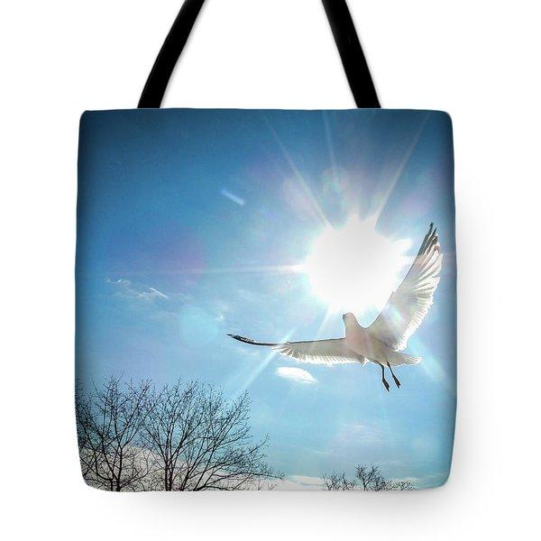 Warmed Wings Tote Bag