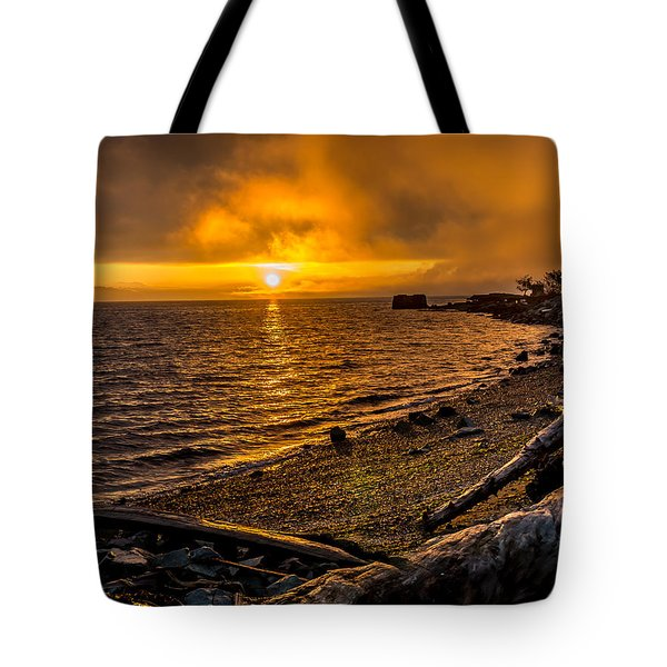 Warming Sunrise Commencement Bay Tote Bag