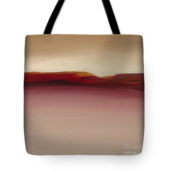 Tote Bag featuring the painting Warm Mountains by Michelle Abrams