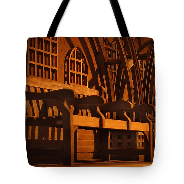Warmth Of A London Bench Tote Bag by Mike McGlothlen