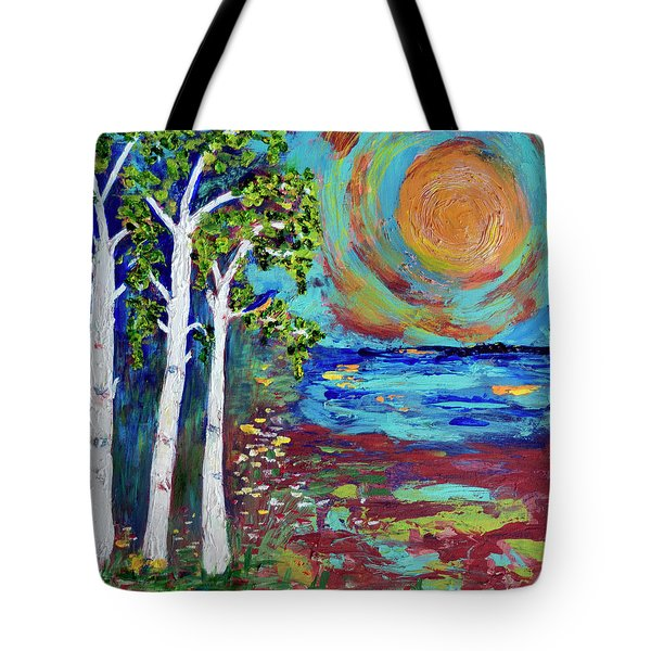Warmth Of The Sun Tote Bag by Haleh Mahbod