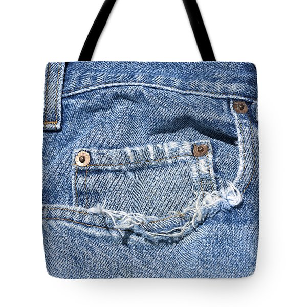Worn Jeans Tote Bag by George Robinson