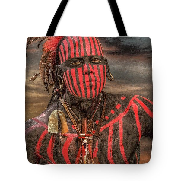 Warpath Shawnee Indian Tote Bag by Randy Steele