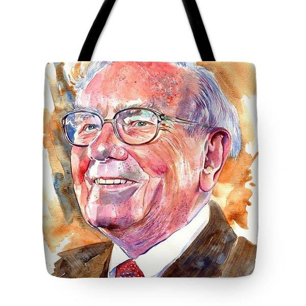 Warren Buffett Painting Tote Bag