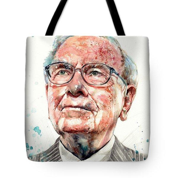 Warren Buffett Portrait Tote Bag