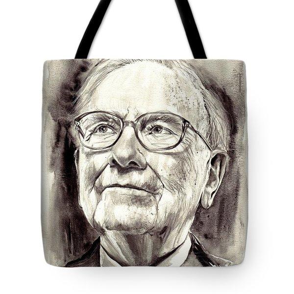 Warren Buffett Watercolor Tote Bag