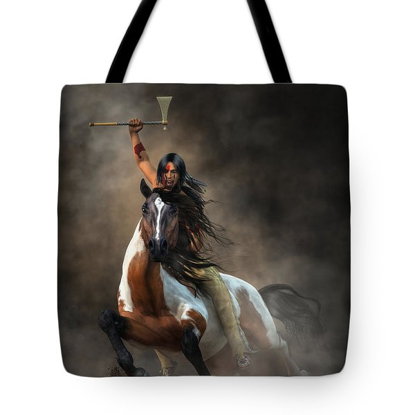 Warrior Tote Bag by Daniel Eskridge
