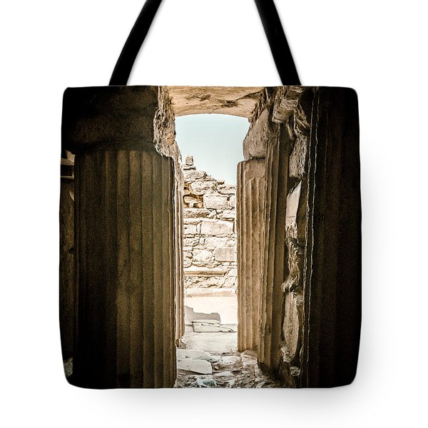 Warrior Entrance To The Ephesus Theatre Tote Bag