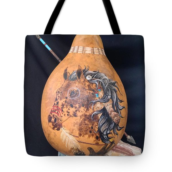 Warrior Horse Tote Bag by Barbara Prestridge