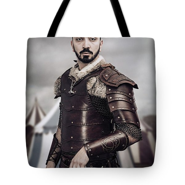Warrior In Field Tote Bag
