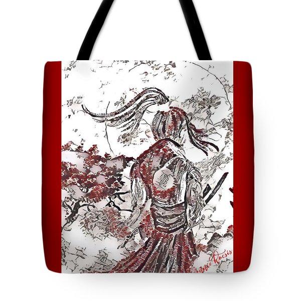 Warrior Moon Anime Tote Bag by Vennie Kocsis