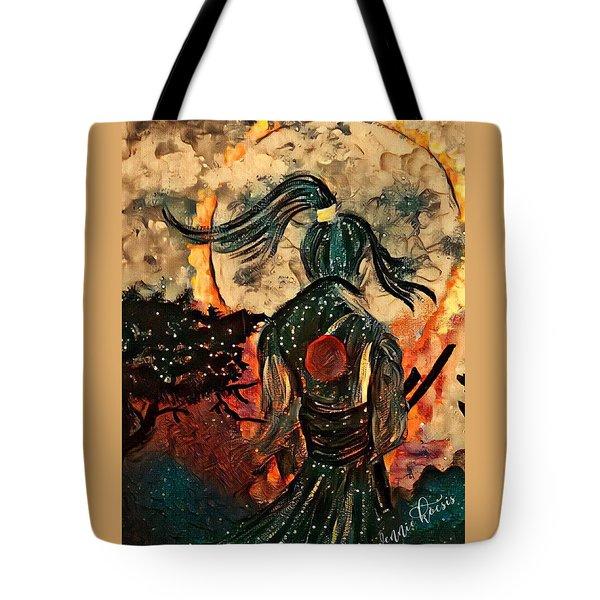 Warrior Moon Tote Bag by Vennie Kocsis