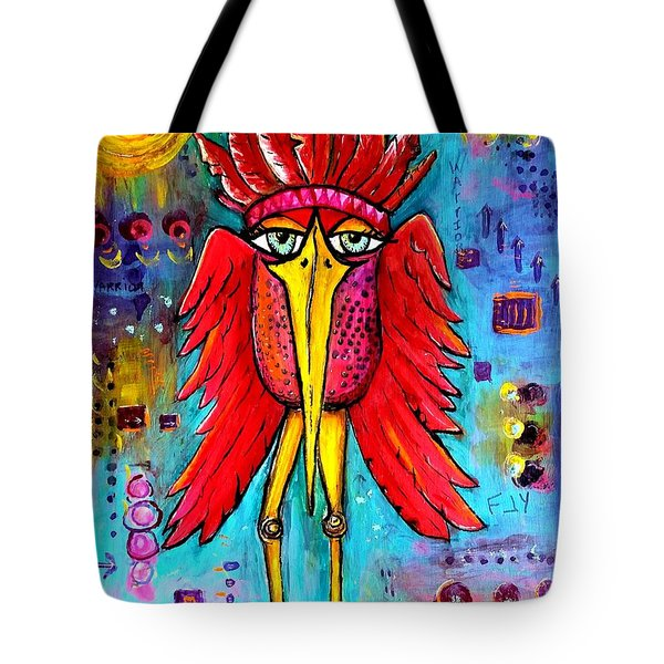 Tote Bag featuring the painting Warrior Spirit by Vickie Scarlett-Fisher