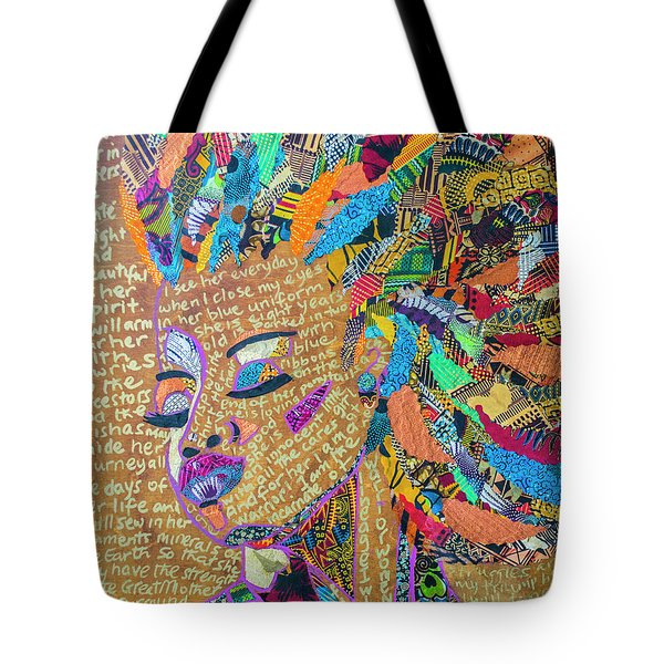 Warrior Woman Tote Bag by Apanaki Temitayo M
