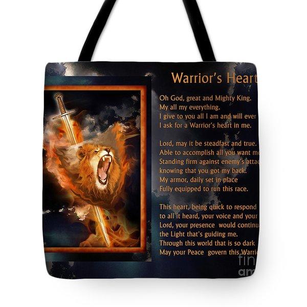 Warrior's Heart Poetry Tote Bag
