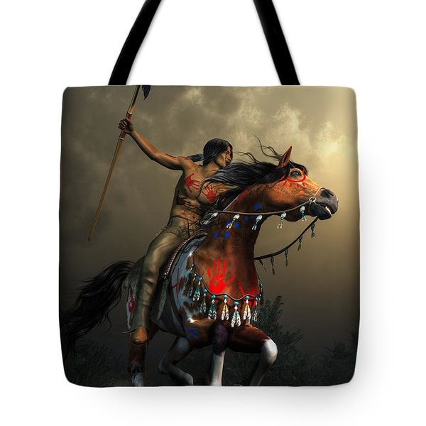 Warriors Of The Plains Tote Bag by Daniel Eskridge