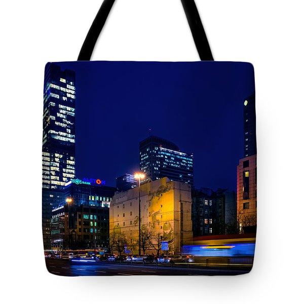Warsaw Downtown Tote Bag