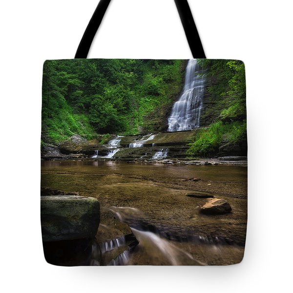 Tote Bag featuring the photograph Warsaw Falls 2 by Mark Papke