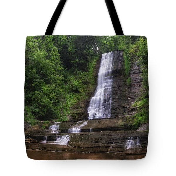 Tote Bag featuring the photograph Warsaw Falls by Mark Papke