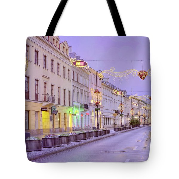 Tote Bag featuring the photograph Warsaw by Juli Scalzi