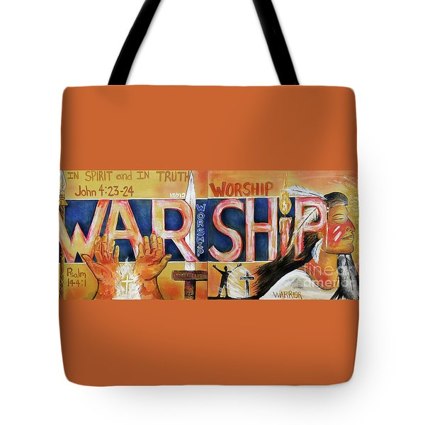 Tote Bag featuring the painting Warship by Jennifer Page