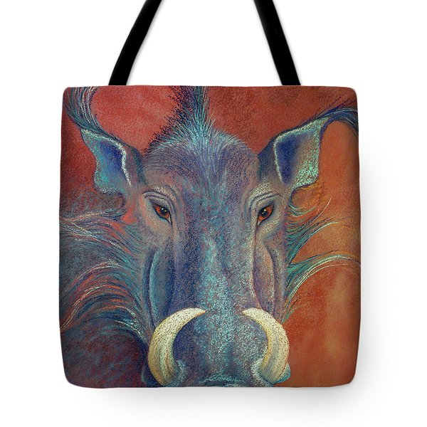 Warthog Defiance Tote Bag by Tracy L Teeter