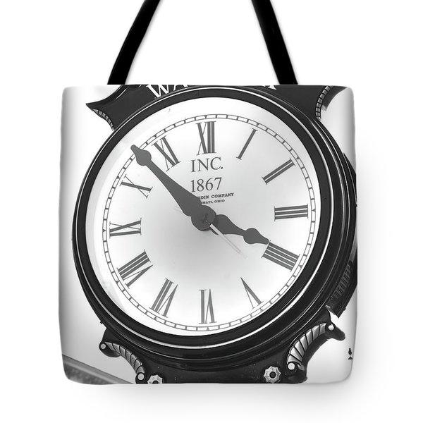 Warwick Train Clock  Tote Bag