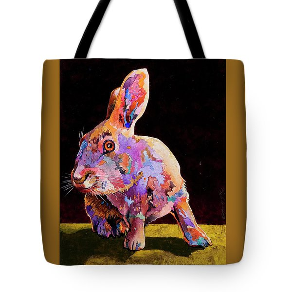 Tote Bag featuring the painting Wary by Bob Coonts