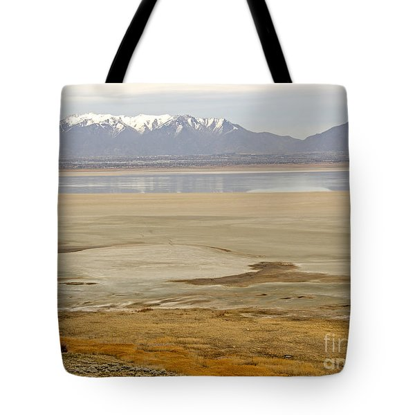 Wasatch Mountains From Antelope Island Tote Bag