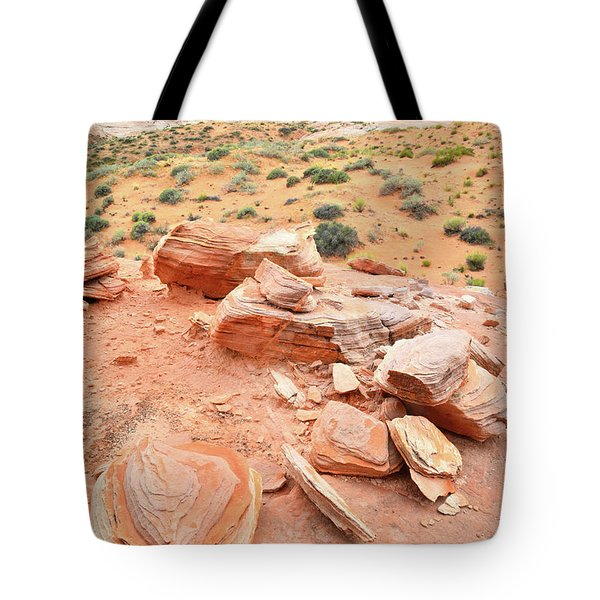 Tote Bag featuring the photograph Wash 4 In Valley Of Fire by Ray Mathis
