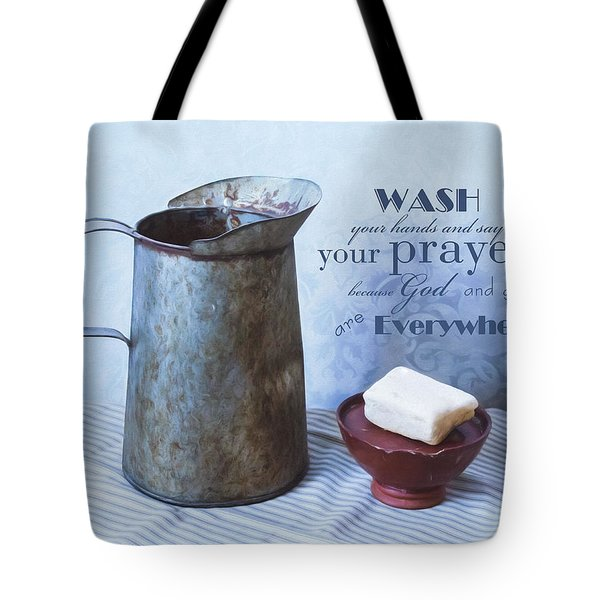 Bathroom Sentiment Tote Bag