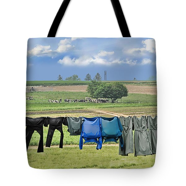 Wash Day In Amish Country Tote Bag