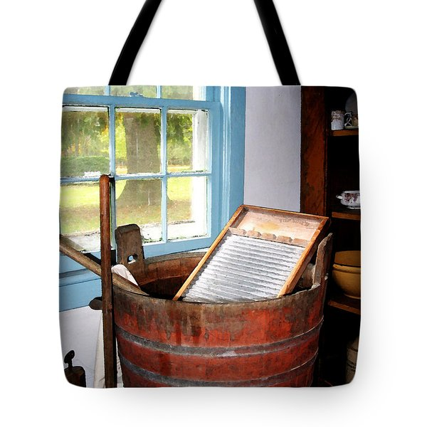 Washboard Tote Bag by Susan Savad