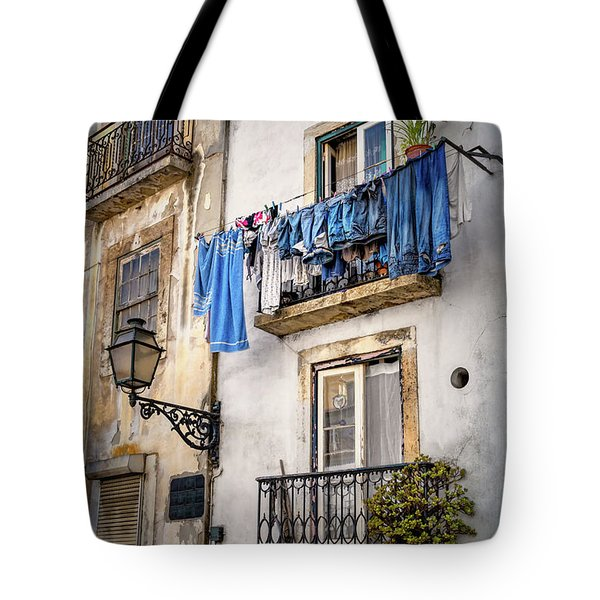 Washday Blues In Lisbon Portugal  Tote Bag